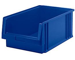 Sichtlagerkasten aus Polypropylen - Inhalt 22,5 l, VE 8 Stk - blau