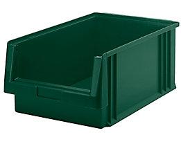Sichtlagerkasten aus Polypropylen - Inhalt 22,5 l, VE 8 Stk - grün