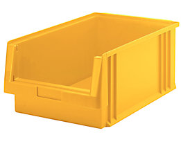 Sichtlagerkasten aus Polypropylen - Inhalt 22,5 l, VE 8 Stk - gelb