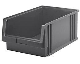Sichtlagerkasten aus Polypropylen - Inhalt 22,5 l, VE 8 Stk - grau