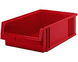 Sichtlagerkasten aus Polypropylen - Inhalt 16,5 l, VE 10 Stk - rot