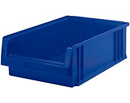 Sichtlagerkasten aus Polypropylen - Inhalt 16,5 l, VE 10 Stk - blau
