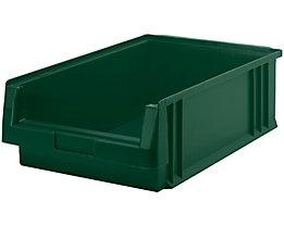 Sichtlagerkasten aus Polypropylen - Inhalt 16,5 l, VE 10 Stk - grün