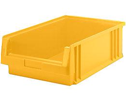 Sichtlagerkasten aus Polypropylen - Inhalt 16,5 l, VE 10 Stk - gelb