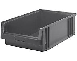 Sichtlagerkasten aus Polypropylen - Inhalt 16,5 l, VE 10 Stk - grau