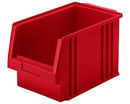 Sichtlagerkasten aus Polypropylen - Inhalt 9,7 l, VE 10 Stk - rot