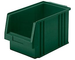 Sichtlagerkasten aus Polypropylen - Inhalt 9,7 l, VE 10 Stk - grün