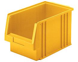 Sichtlagerkasten aus Polypropylen - Inhalt 9,7 l, VE 10 Stk - gelb