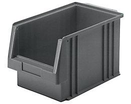Sichtlagerkasten aus Polypropylen - Inhalt 9,7 l, VE 10 Stk - grau