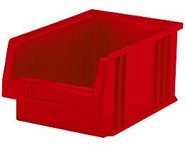 Sichtlagerkasten aus Polypropylen - Inhalt 7,4 l, VE 10 Stk - rot
