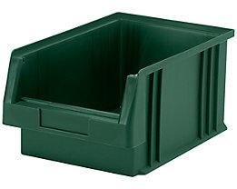 Sichtlagerkasten aus Polypropylen - Inhalt 7,4 l, VE 10 Stk - grün