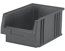 Sichtlagerkasten aus Polypropylen - Inhalt 7,4 l, VE 10 Stk - grau