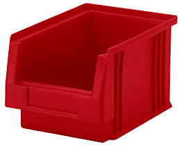 Sichtlagerkasten aus Polypropylen - Inhalt 2,7 l, VE 25 Stk - rot
