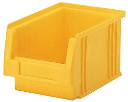 Sichtlagerkasten aus Polypropylen - Inhalt 2,7 l, VE 25 Stk - gelb