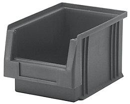 Sichtlagerkasten aus Polypropylen - Inhalt 2,7 l, VE 25 Stk - grau