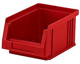 Sichtlagerkasten aus Polypropylen - Inhalt 0,7 l, VE 25 Stk - rot