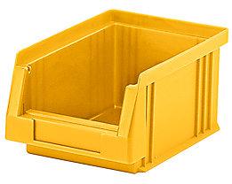Sichtlagerkasten aus Polypropylen - Inhalt 0,7 l, VE 25 Stk - gelb