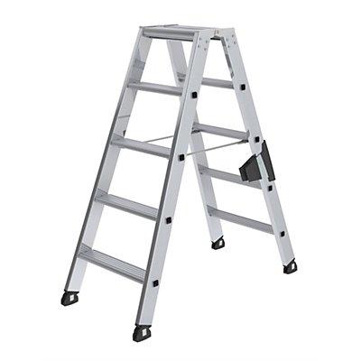 Günzburger Steigtechnik Stufen-Stehleiter, beidseitig - Komfort-Ausführung mit ergo-pad®