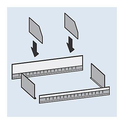 Séparateur métallique - hauteur 200 mm