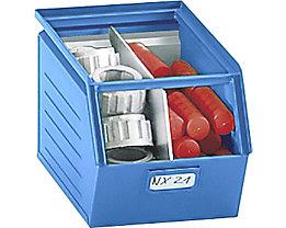 Sichtlagerkasten aus Stahlblech - Inhalt 10 Liter - lichtblau, ab 10 Stk