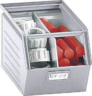 Sichtlagerkasten aus Stahlblech - Inhalt 10 Liter