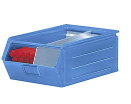 Sichtlagerkasten aus Stahlblech - Inhalt 23 Liter - lichtblau, ab 10 Stk