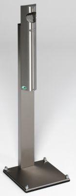 Edelstahl-Standascher - Fassungsvermögen 3,5 l - HxBxT 1250 x 310 x 310 mm