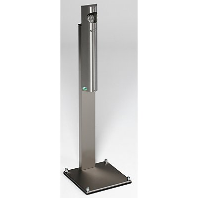 Cendrier sur pied en inox - capacité 3,5 l - h x l x p 1250 x 310 x 310 mm
