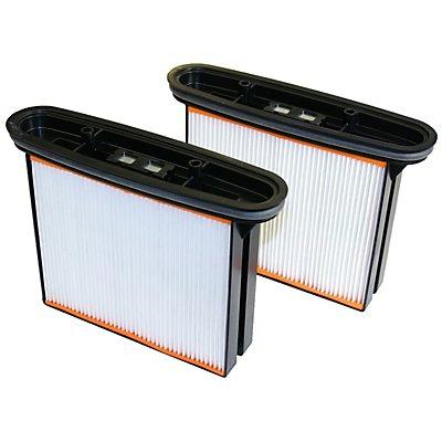 Filtre plissé - pour aspirateur industriel de sécurité classe de poussières M - lot de 2