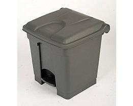 Kunststoff-Tretabfallsammler - 30 Liter Volumen - grau
