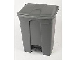 Kunststoff-Tretabfallsammler - 70 Liter - grau