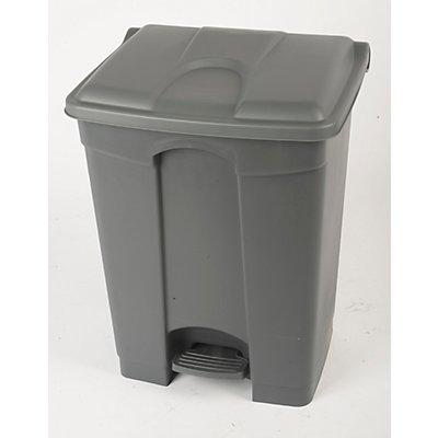 Collecteur de déchets à pédale, en plastique - h x l x p 675 x 505 x 415 mm, 70 l