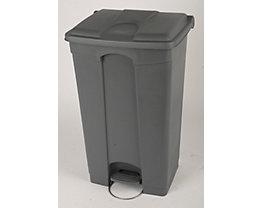 Kunststoff-Tretabfallsammler - HxBxT 790 x 505 x 410 mm, 90 l - grau