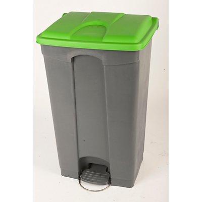 Collecteur de déchets à pédale, en plastique - h x l x p 790 x 505 x 410 mm, 90 l