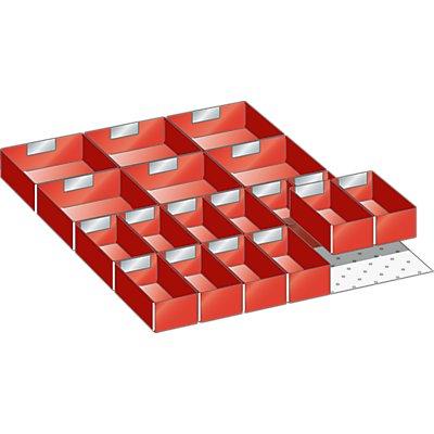 Lista Schubladeneinteilungs-Set - Einsatzkästen, 18-teilig, 125 mm