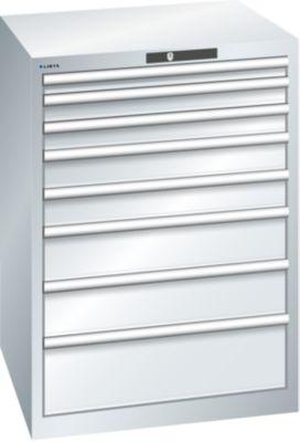 Lista Schubladenschrank, Stahlblech - HxB 1000 x 717 mm, 8 Schubladen