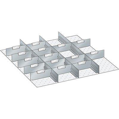 Trennwand - für Schrankmaße 717 x 725 mm - für Schubladenhöhe 75 mm