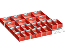 Kunststoffeinsatzkasten - für Schrankmaße 717 x 725 mm - für Schubladenhöhe 100 mm