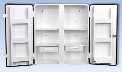 Verbandschrank nach DIN 13169 - doppeltürig, weiß, HxBxT 462 x 404 x 170 mm