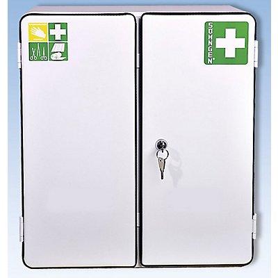 SÖHNGEN Verbandschrank nach DIN 13169 - doppeltürig, weiß, HxBxT 462 x 404 x 170 mm