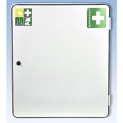Verbandschrank nach DIN 13157 - eintürig, weiß, HxBxT 462 x 402 x 112 mm
