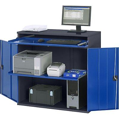 RAU Computer-Arbeitsstation - Schrankgehäuse mit 1 Ausziehboden