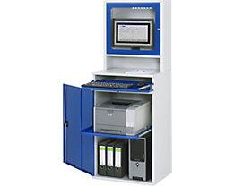 RAU Computer-Arbeitsstation - Monitorgehäuse, 1 Ausziehboden