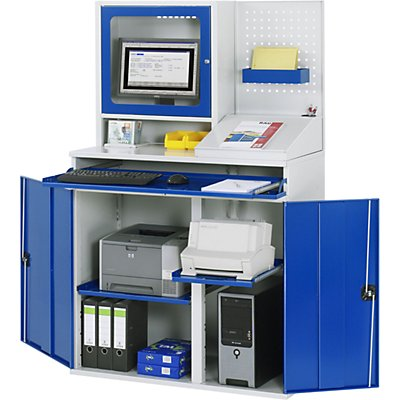 RAU Computer-Arbeitsstation - Monitorgehäuse, 2 Ausziehböden