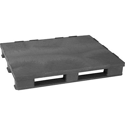 Vielzweck-Kunststoffpalette, mit Stahleinlage - LxBxH 1200 x 1000 x 150 mm