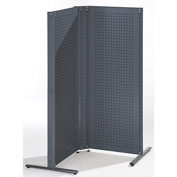 Image of ANKE Industrie-Trennwandsystem - Eck-Kombination linksseitig 90° - anthrazitgrau