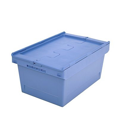 BITO Mehrweg-Stapelbehälter mit Klappdeckel - Inhalt 47 l