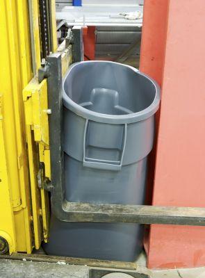 Rubbermaid Universalcontainer, rund - Inhalt ca. 37 l, Beschichtung lebensmittelecht
