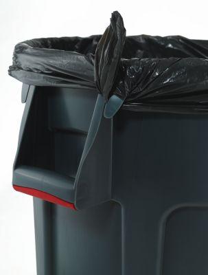 Rubbermaid Universalcontainer, rund - Inhalt ca. 208 l, Beschichtung lebensmittelecht - grau