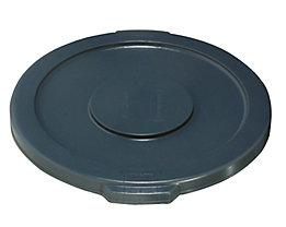 Kunststoffdeckel - mit Schnappverschluss, stapelbar - für 37-l Tonne, grau